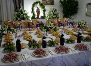 An example of an Italian St. Joseph's Day Table